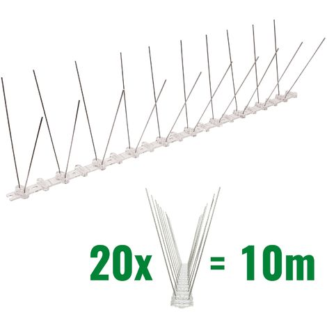 10 metros de Púas antipalomas con base de Policarbonato - 2-hilera de Púas antipalomas la solución de calidad para el control de aves