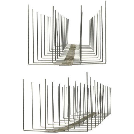 10 metros de Púas antipalomas V2A-Titan con base de acero inoxidable - 4-hileras de Púas antipalomas la solución de calidad para el control de aves