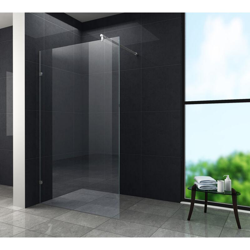 90x200cm Walk in Duschwand Duschtrennwand 10mm Easy-clean Nano Glas Duschabtrennung