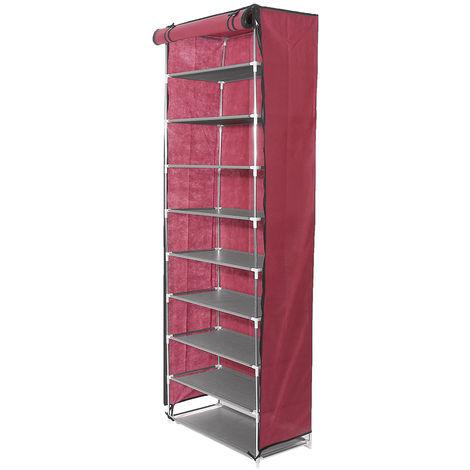 10 niveles zapatero armario armario armario armario zapato rojo zapato LAVENTE