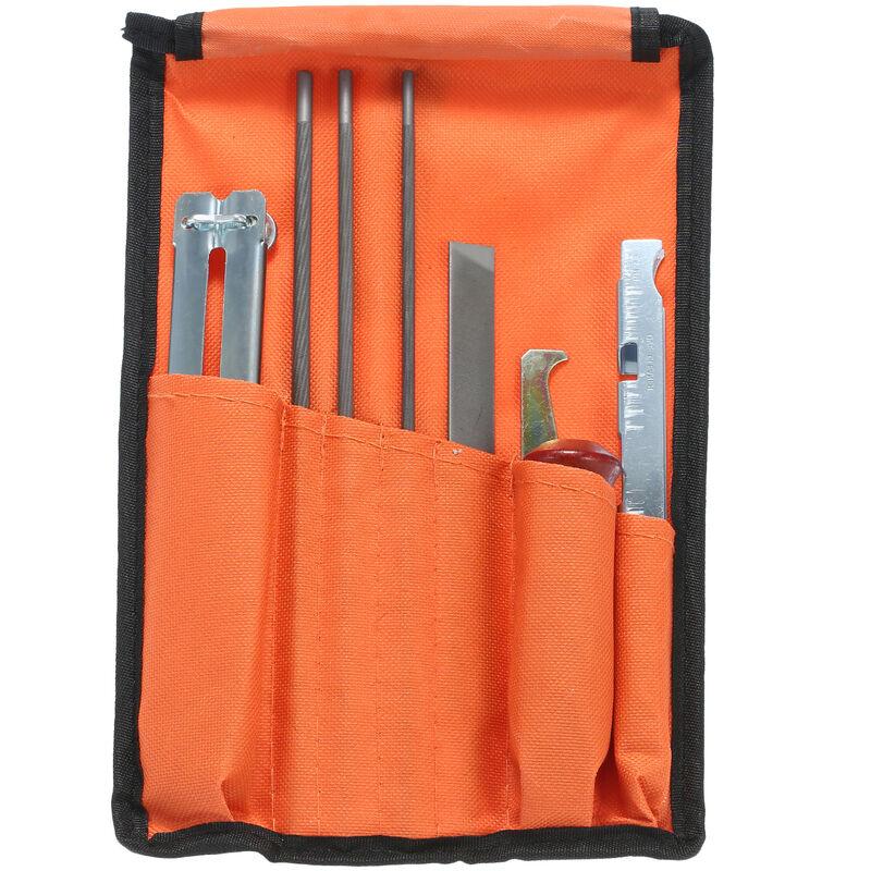 Happyshopping - 10 outils d'affutage de tron?onneuse, y compris des limes 5/32, 3/16 et 7/32 pouces, une jauge de profondeur et un sac a outils