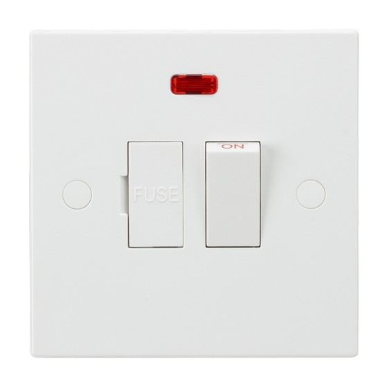 Image of 10 PACK - Knightsbridge 13A Switched Fused Spur Unit with Neon