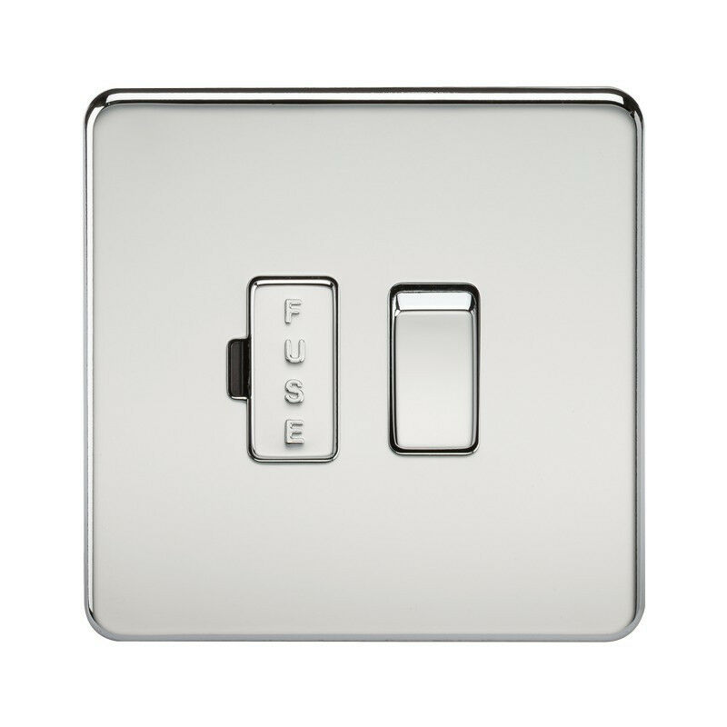 Image of 10 PACK - Knightsbridge Screwless 13A Switched Fused Spur Unit - Polished Chrome