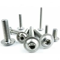 10 Pack M3X10 A2 Stainless Flanged Button Head Socket Screw Fairing Bolts