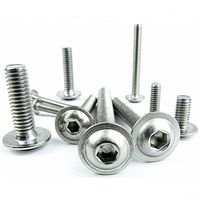10 Pack M3X8 A2 Stainless Flanged Button Head Socket Screw Fairing Bolts