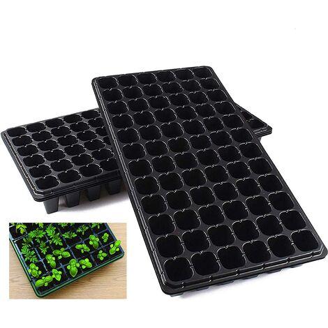 "main image of ""10 Pack Seed Starter Kit, 72 Cell Seedling Trays Gardening Germination Plastic Tray Nursery Pots Mini Propagator Plant Grow Kit Plug Tray Starting Trays for Seedling Germination"""