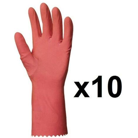 Gris pu revêtement anti-dérapant # 1 paire de gants tricot fin taille xl 10
