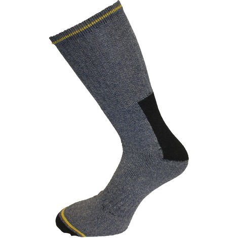 10 Pairs Mens Heavy Duty Casual Or Work Socks Size 6 - 11 Cotton Rich - Cushioned Support