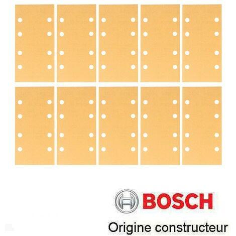 10 patins abrasifs velcros Bosch 93x185 mm grain 40 à 400