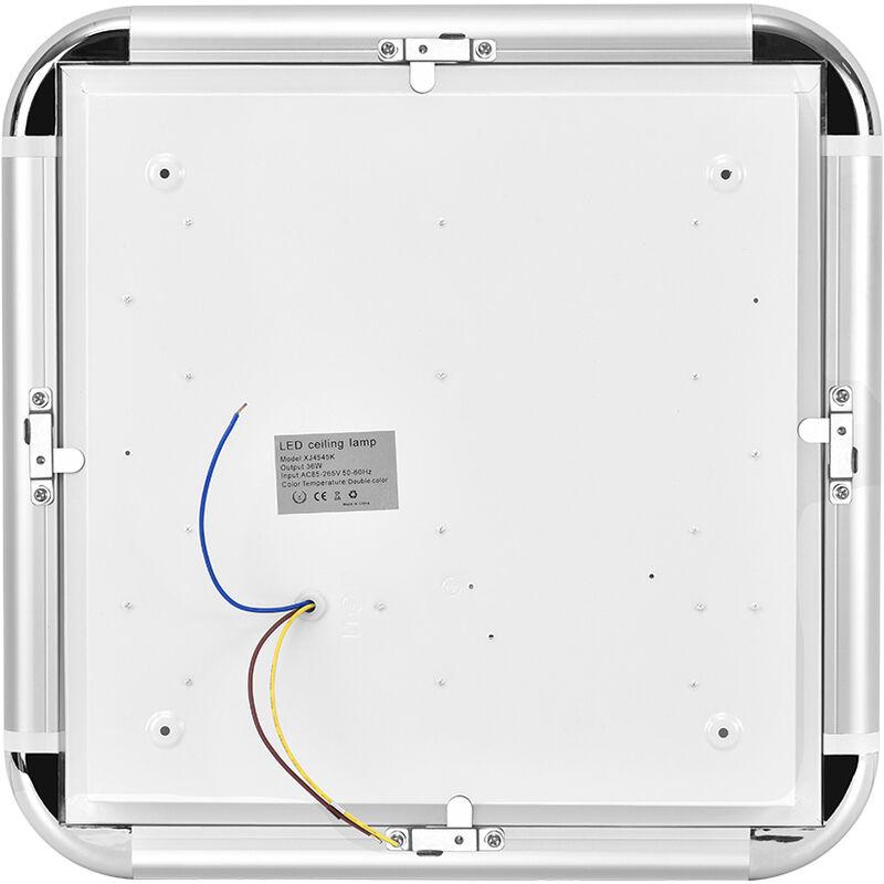 Hommoo - 10 PCS 36W 45 * 45CM Warmweiß i6 Slim Typ 220V Deckenleuchte LLDUK-XJ4545N220V-NPX10