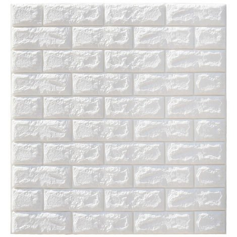 10 Pcs 3D Waterproof Brick Wall Decal Self-adhesive Wallpaper 70x77cm