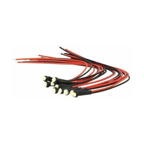 10 Pezzi Micro Mini Lampada Led Con Filo 6V Smd 3528 Colore Giallo Luci Spia Per Moto Epoca