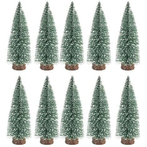 """main image of """"10 pièces de mini décorations pour sapin de Noël, avec décoration de table bricolage en cèdre - 10 cm"""""""