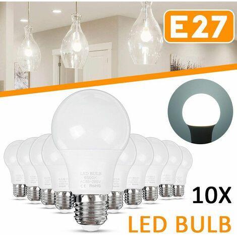 10 pièces E27 LED ampoule projecteur éclairage à la maison décoration blanc froid AC85-265V Bombillas ampoules Lampada ampoule éclairage