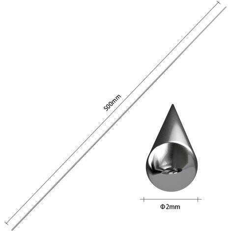 10 Pieces Fil De Soudage En Aluminium A Basse Temperature Flux Fourre 2Mm * 500Mm Tige A Souder Al-Mg Pas Besoin De Poudre A Souder