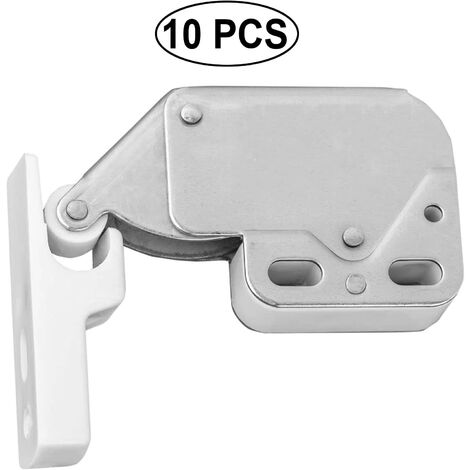 10 pieces mini-latch spring lacquets spring lock Latlope pressure lock furniture for mini latch door with automatic retention plate with closet screws