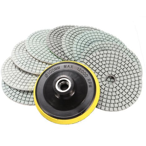 """main image of """"10 Pieces / Set 4 Inch Wet Dry Diamond Polishing Pad For Granite Stone Concrete Marble"""""""