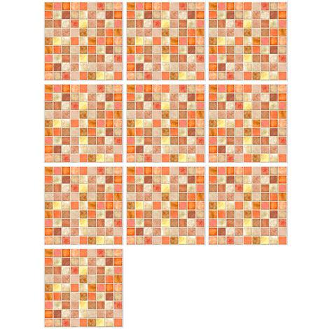 10 Pieces / Set Auto-Adhesif Carreaux Art Stickers Muraux Amovibles Autocollant Mural Cuisine Dosseret Salle De Bains Maison Tidy Protection, 19#