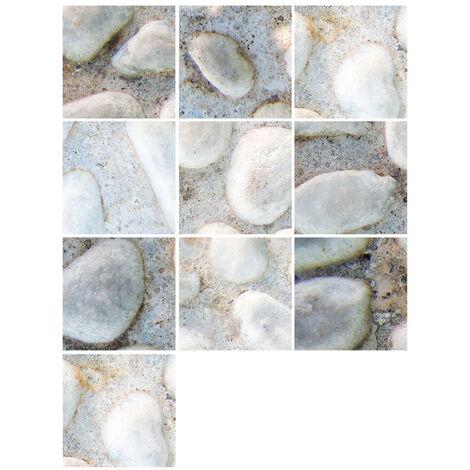 10 Pieces / Set Auto-Adhesif Carreaux Art Stickers Muraux Amovibles Autocollant Mural Cuisine Dosseret Salle De Bains Maison Tidy Protection, 42#