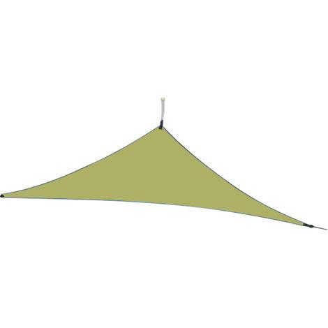10 pies lluvia mosca UV Resistente cortina de Sun Sail Canopy Triangulo 210T poliester Toldo de arena Sombrilla para patio al aire libre jardin trasero Actividades, 3x3x3M, verde del ejercito
