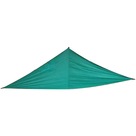 10 pies lluvia mosca UV Resistente cortina de Sun Sail Pabellon impermeable Heavy Duty Triangulo 210T poliester Toldo arena Parasol, verde oscuro, 3x3x3M