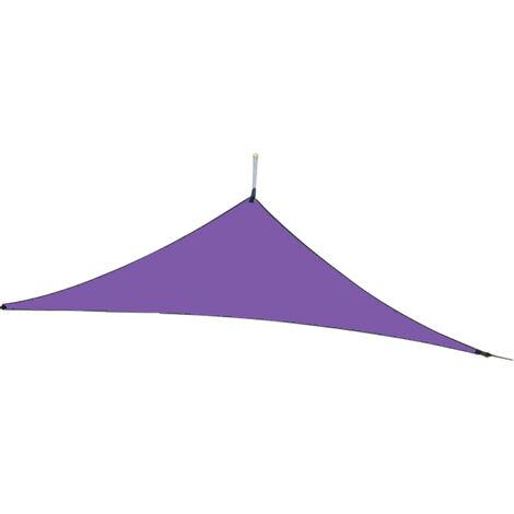 10 pies lluvia mosca UV Resistente cortina de Sun Sail Pabellon impermeable Heavy Duty Triangulo 210T poliester Toldo de arena Sombrilla para patio al aire libre jardin trasero Actividades, purpura, 3x3x3M