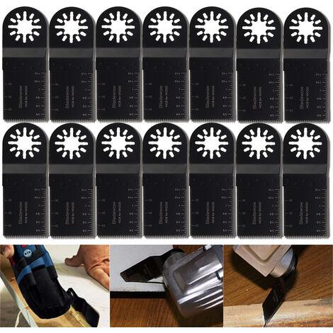 10 piezas bimetálicas 35mm multi herramienta rotativa herramientas de sierra cuchillas oscilantes cortadores de rueda de corte para Bosch Erbauer Makita Einhell FEIN MultiMaster Multiherramienta