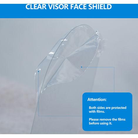 10 piezas, juego de visera transparente con protector facial