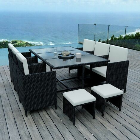10 Places - Ensemble encastrable salon / table de jardin ...
