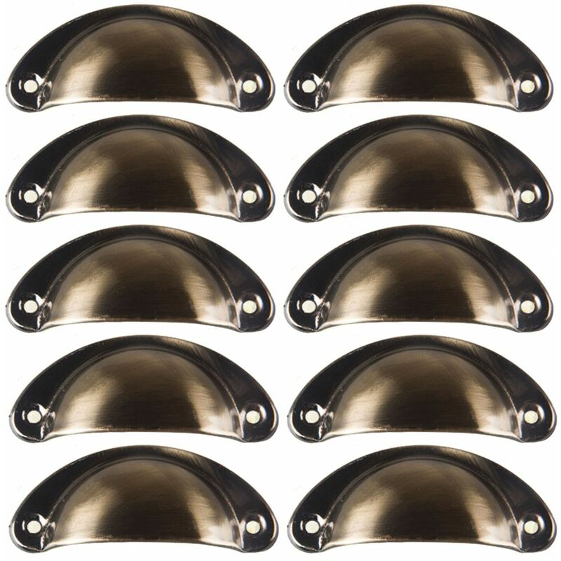10 Poignee De Coquille Vintage Pour Tiroir Armoire Meuble Cuisine Fer Incurve Bouton De Porte De Placard Retro 8 2 Cm X 3 5 Cm Ls007 3