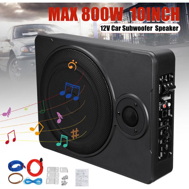 10 pouces 800W Max amplificateurs Hifi sous le siège de voiture subwoofer amplificateur de basse alimenté