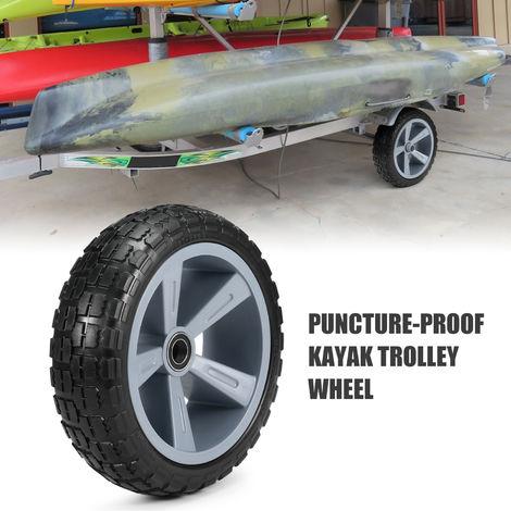 10 Pouces Increvable Kayak Trolley Tire Roue Pour Canoe Kayak Chariot Panier De Remplacement Des Pneus Roue