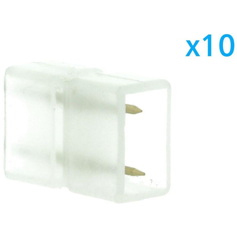 LEDLUX CL2205009 10 PZ Connettore Da 2 Pin Passo 9mm Per Unire e Allungare Bobina Led 220V Mono Colore