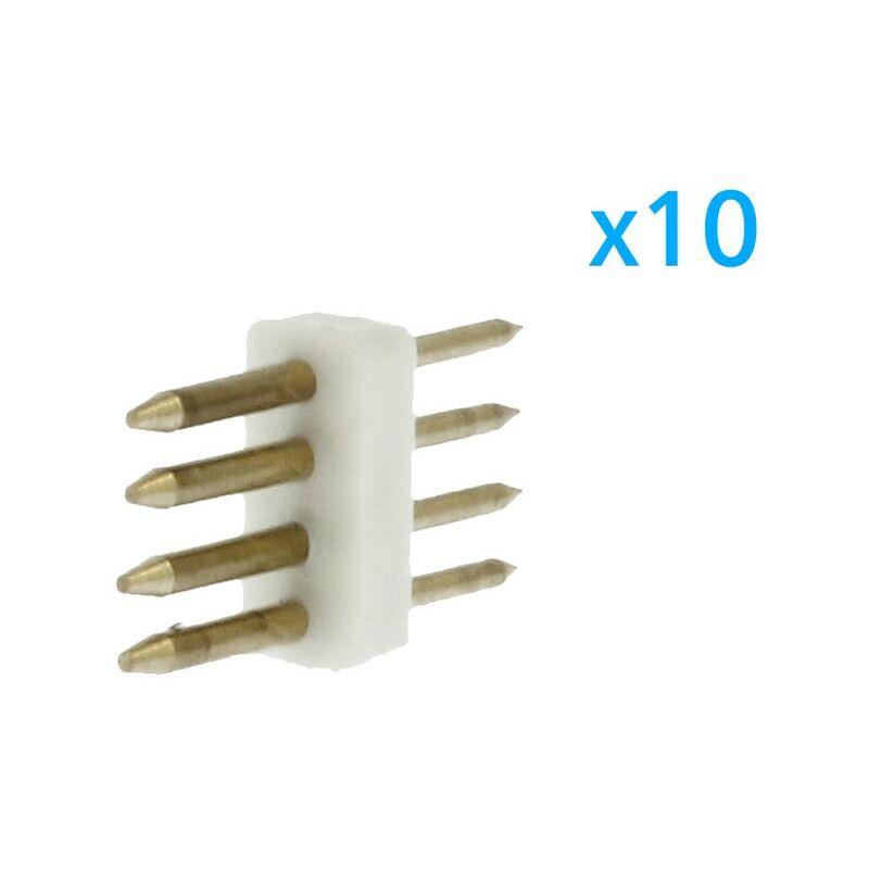 CL2204009 10 PZ Spina Da 4 Pin RGB Passo 9mm Per Collegamento Bobina Led RGB Da 220V Con Alimentatore Trasformatore Raddrizzatore - Ledlux