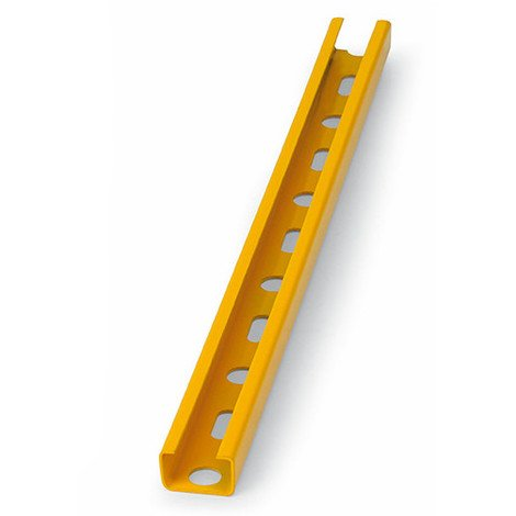 10 rails perforés. Guide perforé. Revêtement plastique jaune 27 x 18 x 1,25 mm - GPP271812 - Index