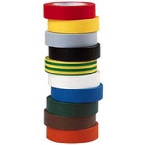 10 rollos de aislamiento Scotch electricista - cinta de 10 metros - Todos los Colores