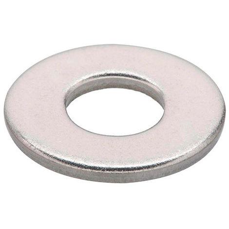 10 Rondelles M10 D. int 10,5 x D. ext 30 x Ep. 2,5 mm. plates inox A2 DIN 9021 - Fixtout - -
