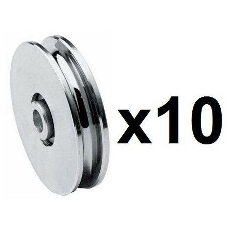 10 Roues gorge U 10mm - Ø100mm