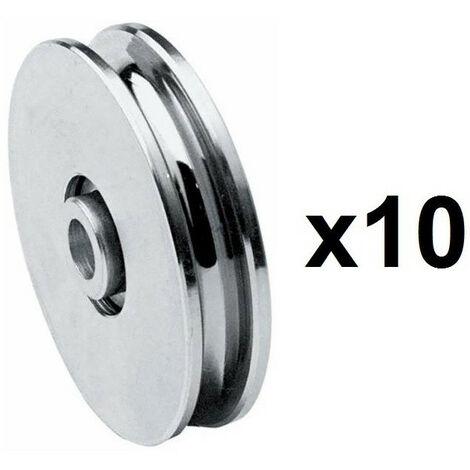 10 Roues gorge U 10mm - Ø60mm