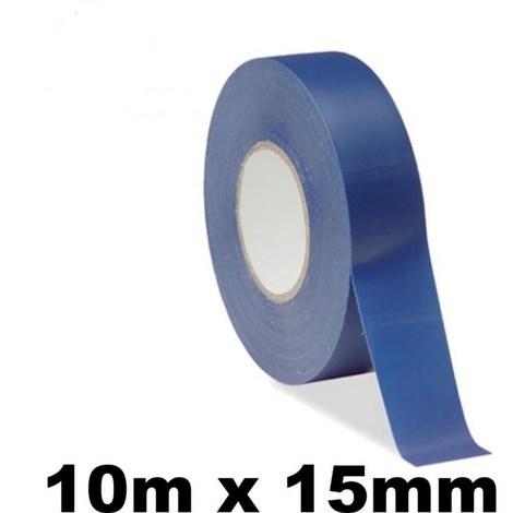 10 rouleaux isolants Scotchs pour électricien - Rubans de 10 mètres - BLEU
