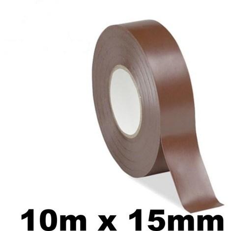 10 rouleaux isolants Scotchs pour électricien - Rubans de 10 mètres - MARRON