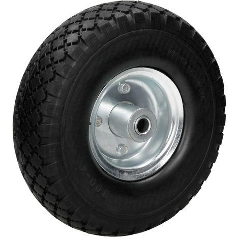 """10"""" Rueda de carro goma maciza de repuesto PU color negro 260x85 mm 3.00-4"""