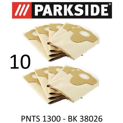 10 Sacs d'aspirateur Parkside PNTS 1300 20 L Lidl BK 38026 Marron 906–05 – Parkside Aspirateur sec humide