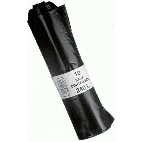 10 Sacs poubelle containeur 240L