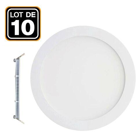 10 Spot Encastrable LED 3W Rond Extra-Plat Blanc Neutre 4500K