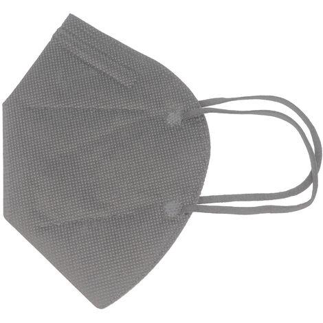 10 Stück FFP2 Maske Grau 5-Lagig, zertifiziert nach DIN EN149:2001+A1:2009, partikelfiltrierende Halbmaske, FFP2 Schutzmaske