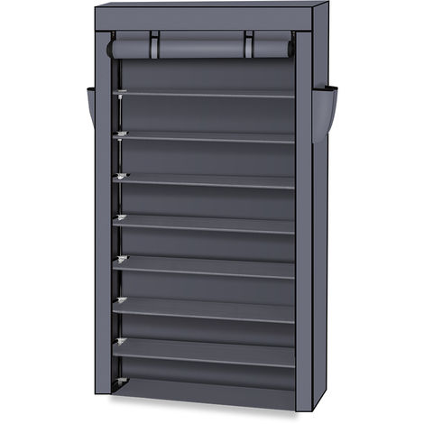 10 Tier Dustproof Shoes Cabinet Storage Organiser Shoe Rack Stand Holds - Different colours