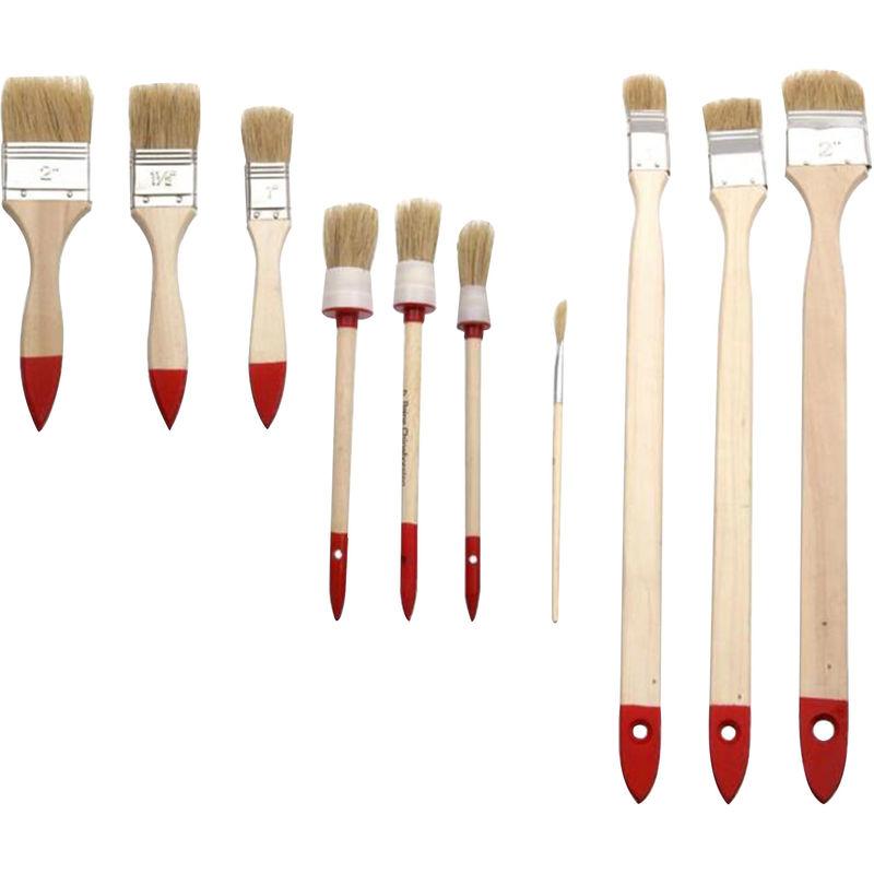 Heizkörperpinsel Malerpinsel Lackpinsel Flachpinsel Holz 37 cm
