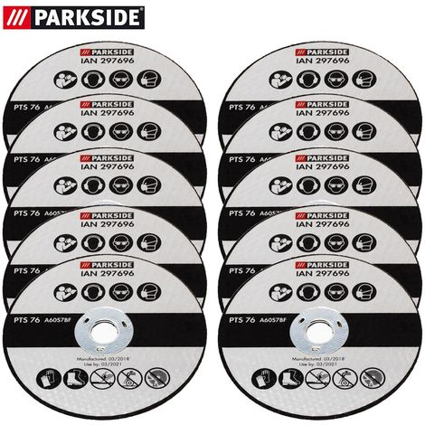 10 Trennscheiben aus Metall, passend für Parkside Winkelschleifer PWSA 12 Li A1 297696