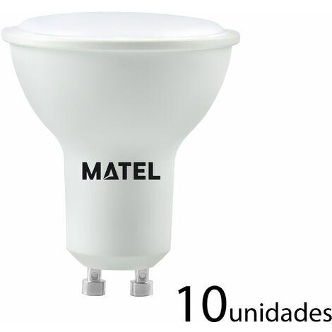 10 unidades Bombilla LED dicroica 120 casquillo GU10 8w 800lm neutra